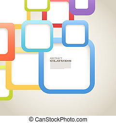 Abstract Background of color boxes with blank area for any...