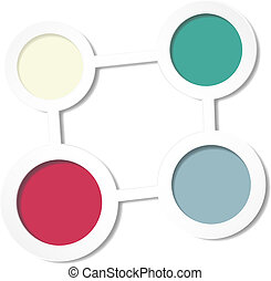 Abstract background of color circle
