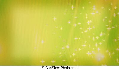 abstract background of colored bands and stars. 3D...