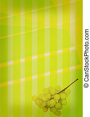 abstract background of colored bands with grapes. 3D...