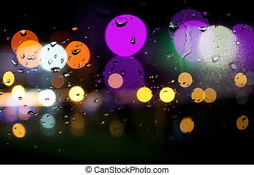 abstract background of colored city lights