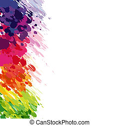 Abstract background of colored splashes blots