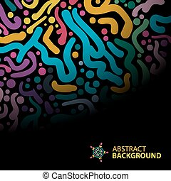 Abstract background of colorful brush strokes on a dark backgrou