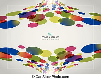 Abstract background of colorful circle pattern with glitters.