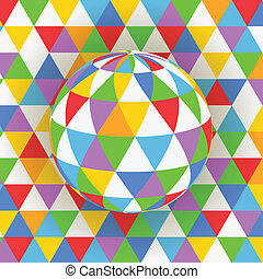 Abstract background of colorful pattern on sphere