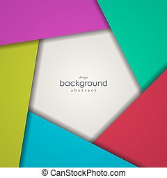 Abstract background of colorful pentagon.