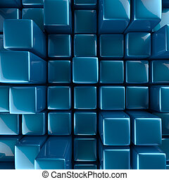 Abstract background of cubes