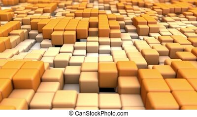 Abstract background of cubes seamless loop.