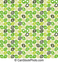 Abstract background of eco web icons.
