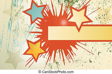 Abstract background of explosion star.