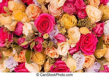 Abstract background of flowers Close-up