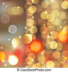 gold blurred lights