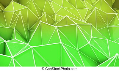 """""""Abstract background of green and yellow triangles"""""""