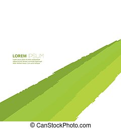 Abstract background of green  elements.