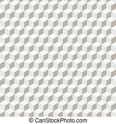 Abstract background of grey cubes. Vector seamless pattern