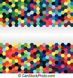 Abstract background of hexagons