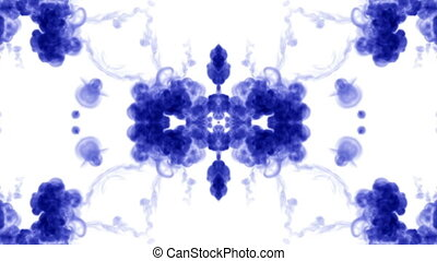 Abstract background of ink or smoke flows is kaleidoscope....