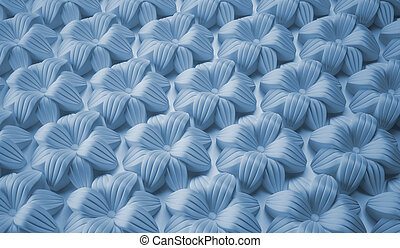 Abstract background of large flowers. Decorative molding