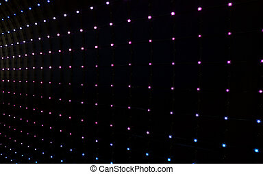 abstract background of many multicolored led lights