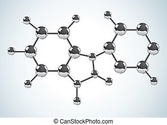 Abstract background of metal atoms - Illustration of the...