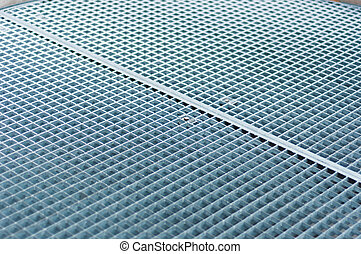 Abstract background of metal plates with frost on it