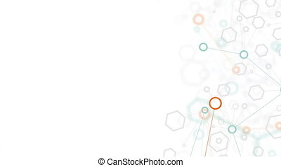 abstract background of molecular structure