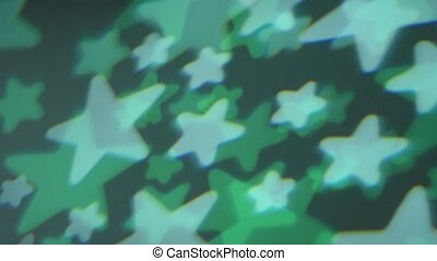 Abstract background of moving colored glowing stars