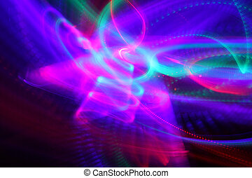 Abstract background of moving colorful lights