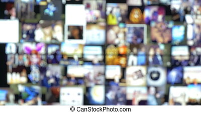 Abstract Background of Moving Pictures - Defocused abstract...