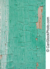 abstract background of old boards painted with green paint