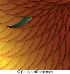 Abstract background of orange scales. Vector, EPS10