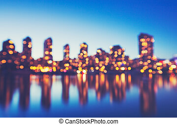 Abstract Background of Out of Focus City Lights