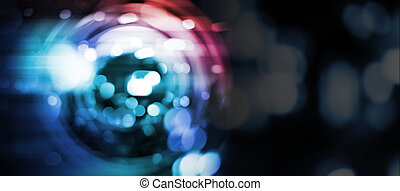 Abstract background of radial blur with bokeh