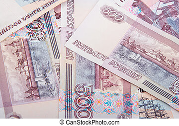 Abstract background of russian banknotes
