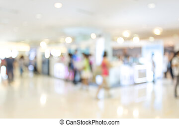 Abstract background of shopping mall