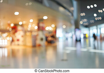 abstract background of shopping mall shallow depth of focus