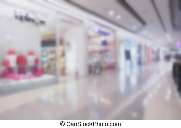 Abstract background of shopping mall, shallow depth of focus