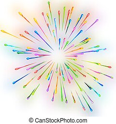 Abstract background of splash paint. - Abstract vector...