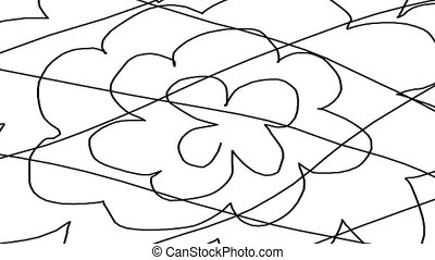 Abstract Background of Squiggly, Intersecting Lines -...