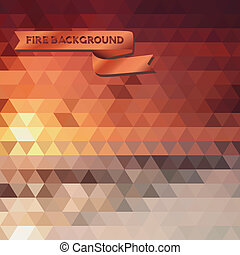 abstract background of the triangle