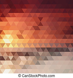 background of the triangles  fiery color