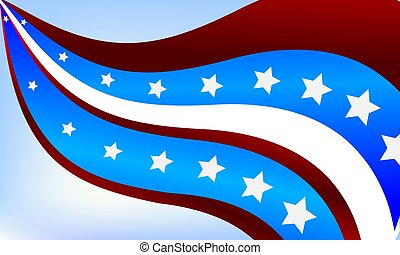 Abstract background of the USA flag