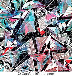 abstract background of triangles and contour lines