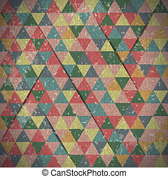 Abstract background of triangles in vintage style