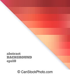 Abstract background of triangles in warm colors.