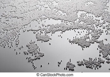 Abstract background of White foam ball texture .