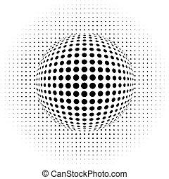 vector illustration of the dots - optical illusion - abstract background