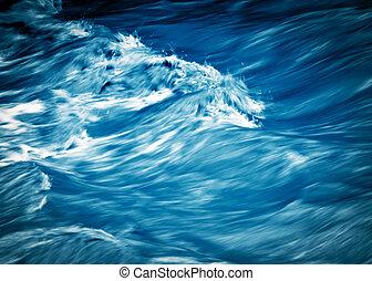 blurred blue river