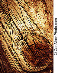 cut scratched wood