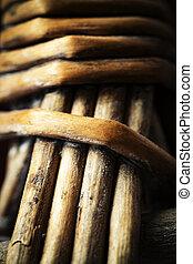 Detail of a wicker basket